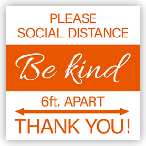 Picture of 16x16 Be Kind Thank You Orange