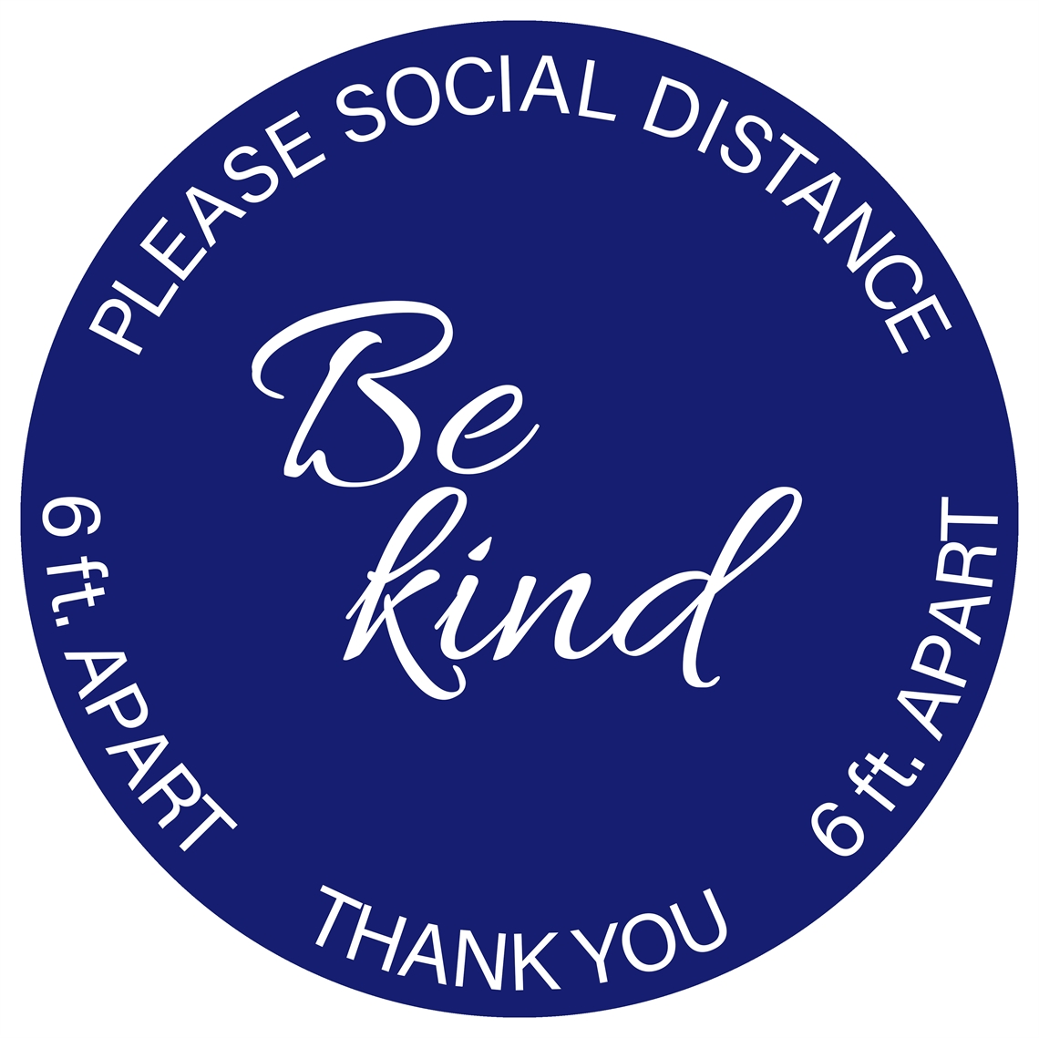 Picture of 16x16 Round Be Kind Sticker