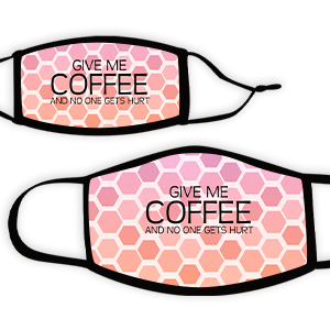 Picture of Hex pinkcoral Coffee Face Mask