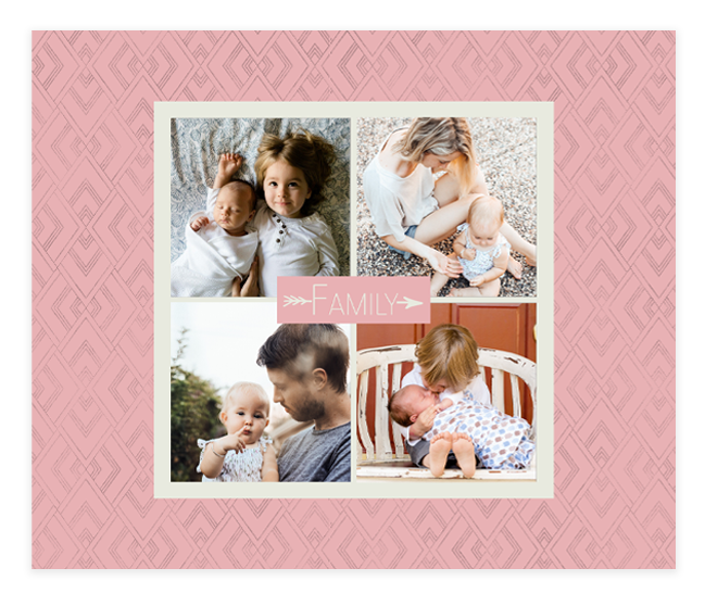Picture of 50x60 One Sided Family 2 Pink Blanket